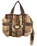 Woman fur bag Stock Photos