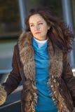 Woman in fur coat Royalty Free Stock Photo