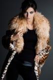 Woman in fur coat Royalty Free Stock Photos