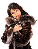 Woman in fur coat. Stock Image