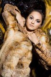 Woman in a fur coat Royalty Free Stock Photos