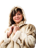 Woman in fur coat Stock Photography