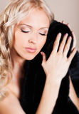 Woman in fur coat Royalty Free Stock Photo