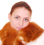 Woman in fur coat Royalty Free Stock Photography