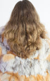 Woman and fur coat Royalty Free Stock Photography