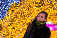 Christmas and New Year in Moscow, Russia. Royalty Free Stock Images