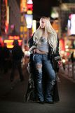 Woman fur fashion royalty free stock image