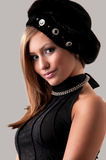 Woman in a fur hat. Beautiful young woman in a fur hat Royalty Free Stock Photos