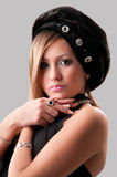 Woman in a fur hat. Beautiful young woman in a fur hat Stock Images
