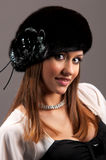 Woman in a fur hat. Beautiful young woman in a fur hat Royalty Free Stock Photo