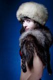 Woman in Furs Stock Image