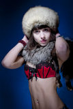 Woman in Furs Royalty Free Stock Images