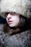 Woman in Furs Stock Photos