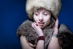 Woman in Furs Stock Photography