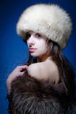 Woman in Furs Royalty Free Stock Photos