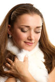 Woman with furs Royalty Free Stock Photos