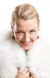Woman With Furs Stock Image