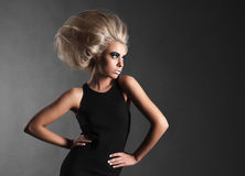 Woman with Futuristic Hairdo Royalty Free Stock Photography