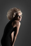 Woman with Futuristic Hairdo. Updo Vogue Style. Woman with Futuristic Hairdo. Fashion. Hairstyle stock photos