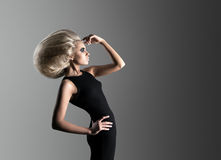 Woman with Futuristic Hairdo Stock Images