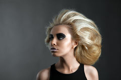 Woman with Futuristic Hairdo Stock Photography