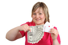 Woman with gain Stock Photography