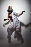 Woman gaming virtual reality Stock Photos