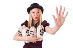 Woman gangster Stock Photos