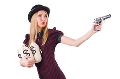 Woman gangster Stock Image