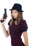 Woman gangster Royalty Free Stock Photos
