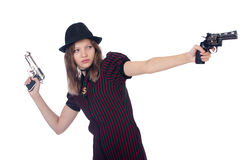Woman gangster Stock Photo