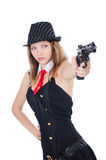Woman gangster Royalty Free Stock Image