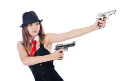 Woman gangster Royalty Free Stock Photo