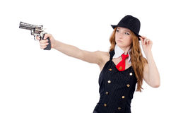 Woman gangster Royalty Free Stock Images