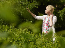 Woman in garden Royalty Free Stock Image