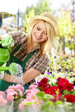 Woman  in garden center Stock Photography