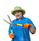 Woman With Garden Shears Royalty Free Stock Image