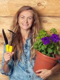 Woman in the garden Royalty Free Stock Image
