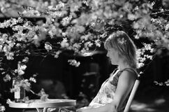 Woman in garden Royalty Free Stock Images