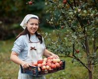 Woman in garden Stock Images