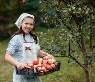 Woman in garden Stock Photo