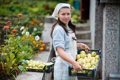 Woman in garden Royalty Free Stock Photos