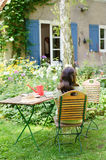 Woman in a garden Royalty Free Stock Photo