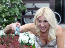 The woman gardener Royalty Free Stock Image