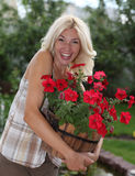 The woman gardener Royalty Free Stock Images