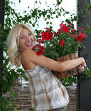 The woman gardener Royalty Free Stock Photography