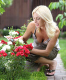The woman gardener Royalty Free Stock Photos