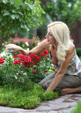 The woman gardener Stock Photos