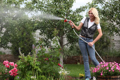 The woman gardener Royalty Free Stock Photos