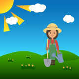 Woman gardener Royalty Free Stock Image